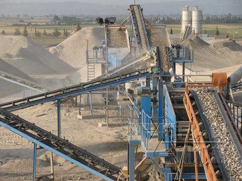 Linha de produção de areia